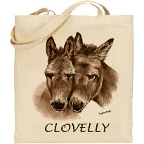 Donkey Design on a Tote Bag