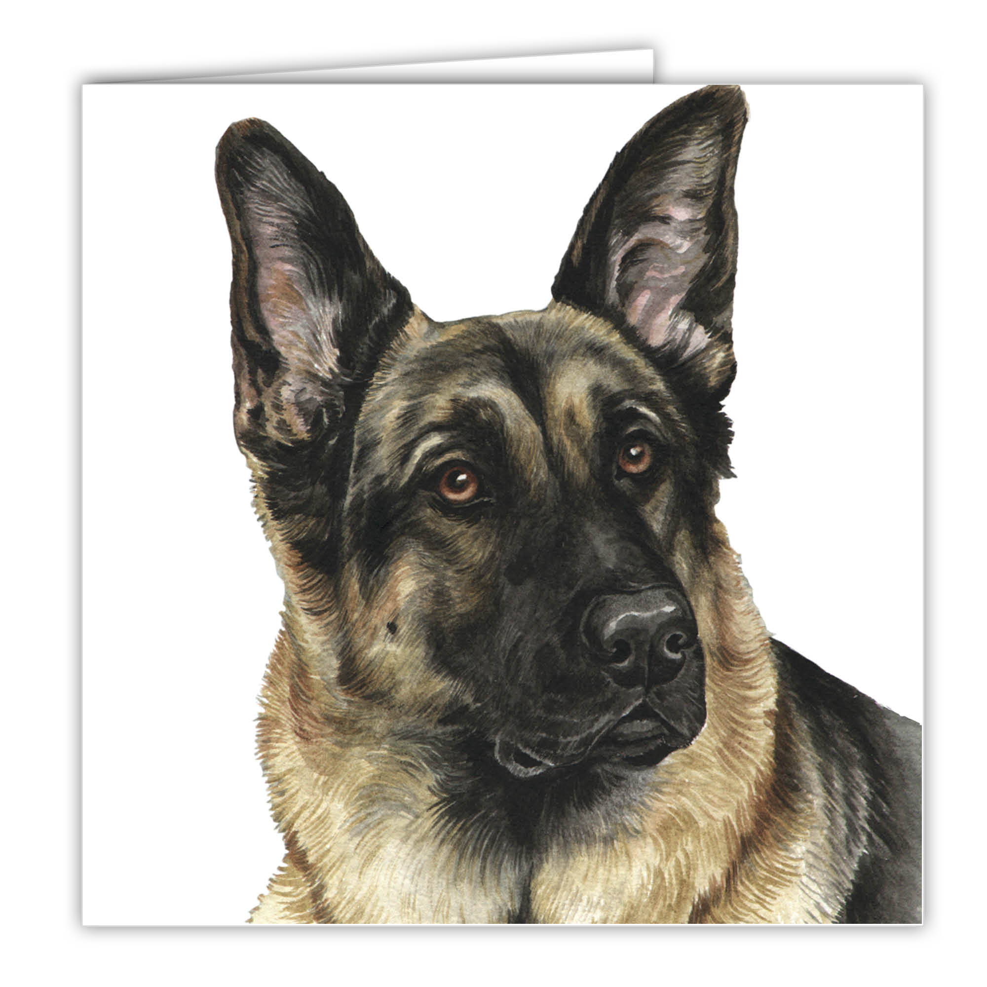 German Shepherd Art Card Greetings Card Ac 28 Waggydogz