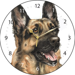 German Shepherd Dog Clock