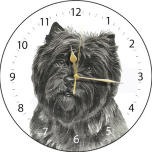 Cairn Terrier Dog Clock