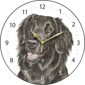 Flat-Coated Retriever Dog Clock