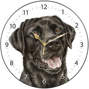 Black Labrador Dog Clock