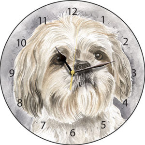 Shih Tzu Dog Clock