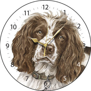Springer Spaniel Dog Clock