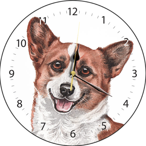Corgi Dog Clock