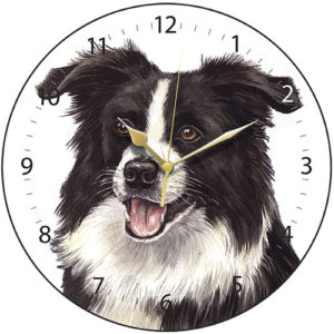 Border Collie Dog Clock