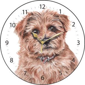 Norfolk Terrier Dog Clock