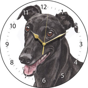 Greyhound - Black Dog Clock