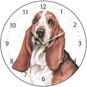 Basset Hound Dog Clock