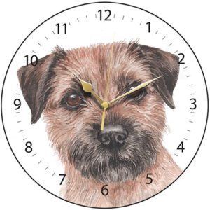 Border Terrier Dog Clock