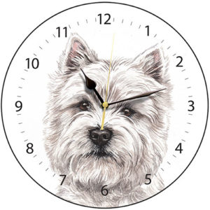 West Highland Terrier Dog Clock