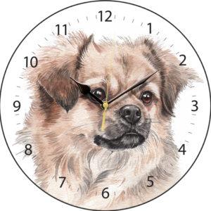 Tibetan Spaniel Dog Clock