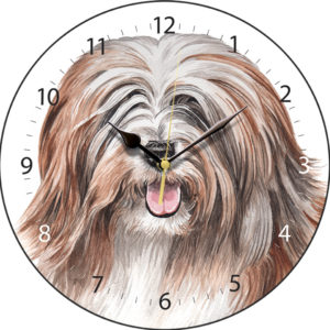 Tibetan Terrier Dog Clock