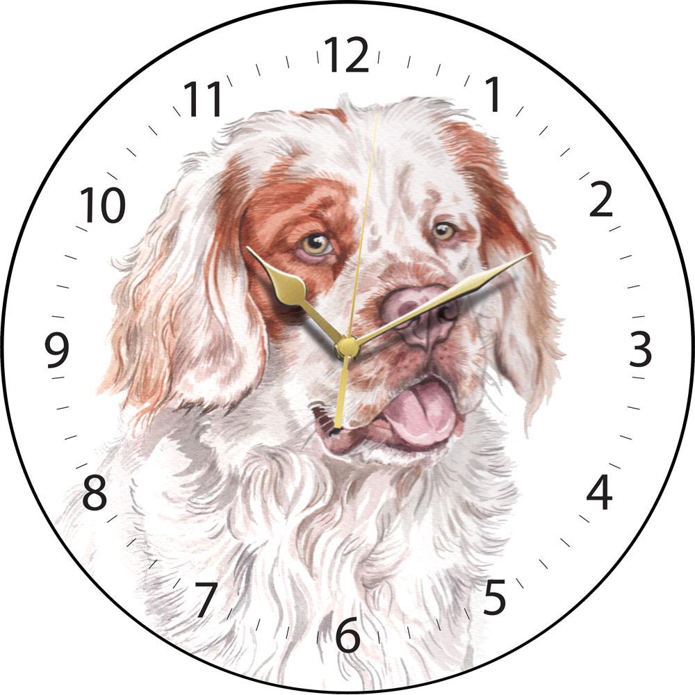 Clumber Spaniel Clock Clk 197 Waggydogz