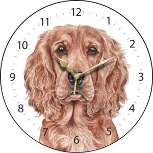Cocker Spaniel Dog Clock