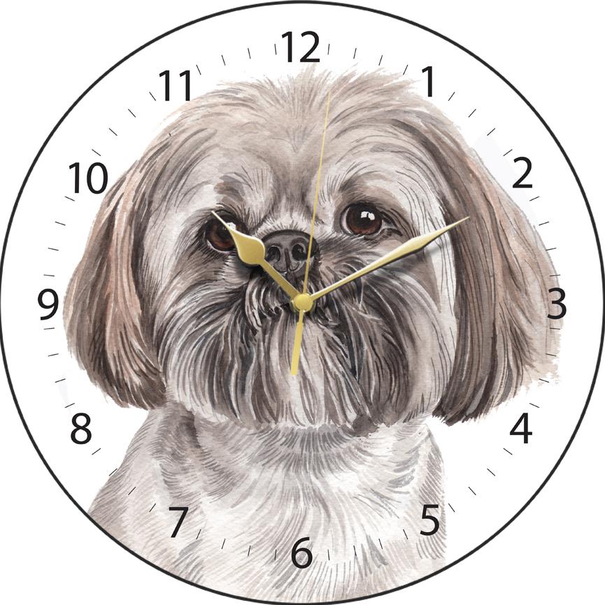 Lhasa Apso Clock Clk 207 Waggydogz