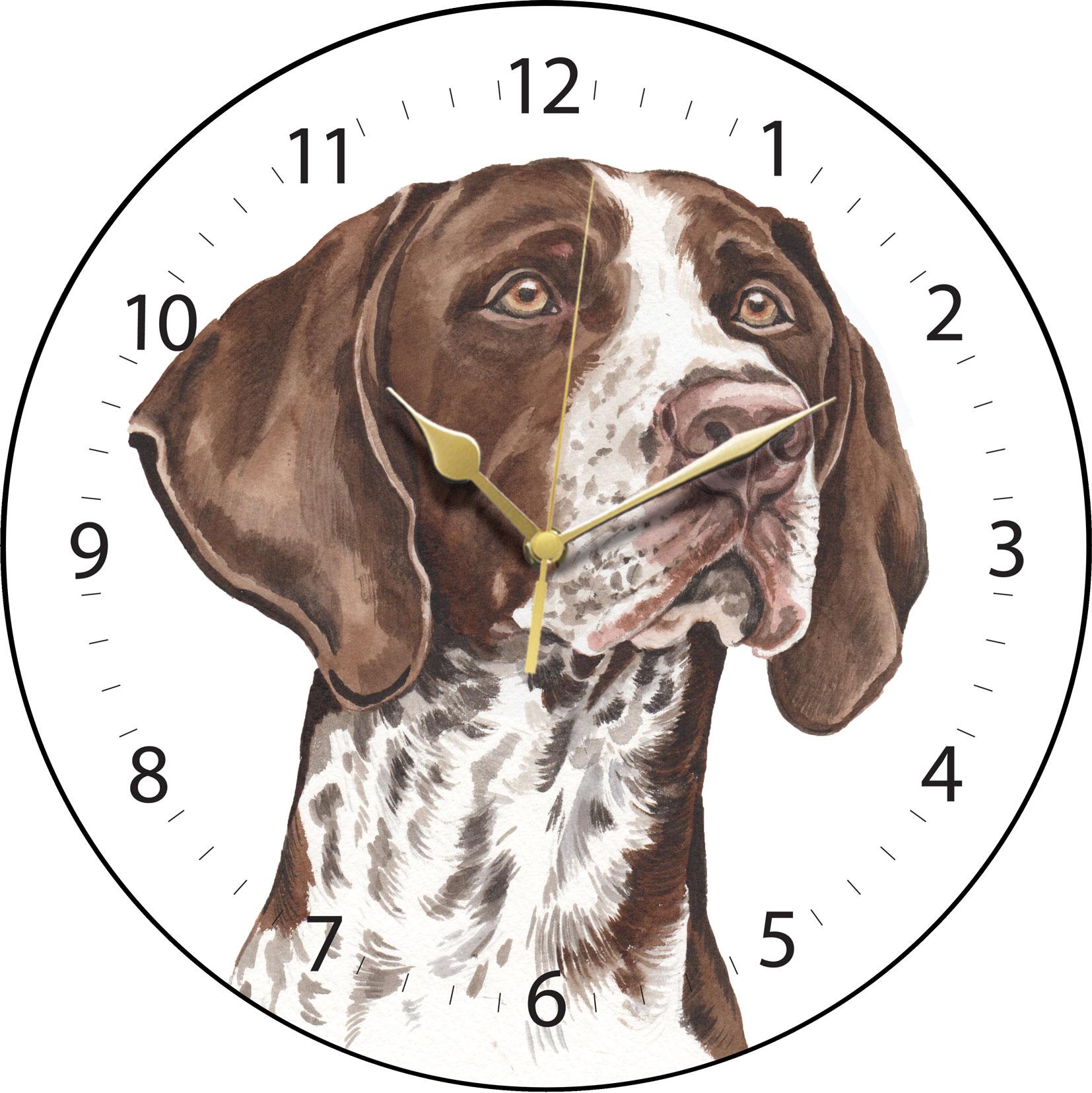 German Shorthaired Pointer Clock Clk 221 Waggydogz