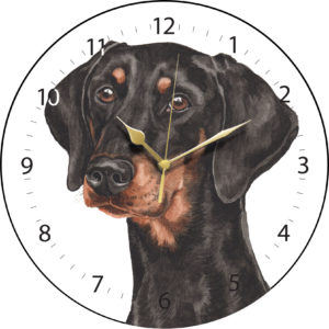 Doberman Dog Clock