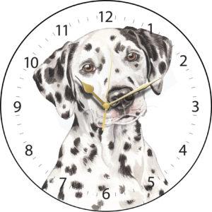 Dalmatian Dog Clock