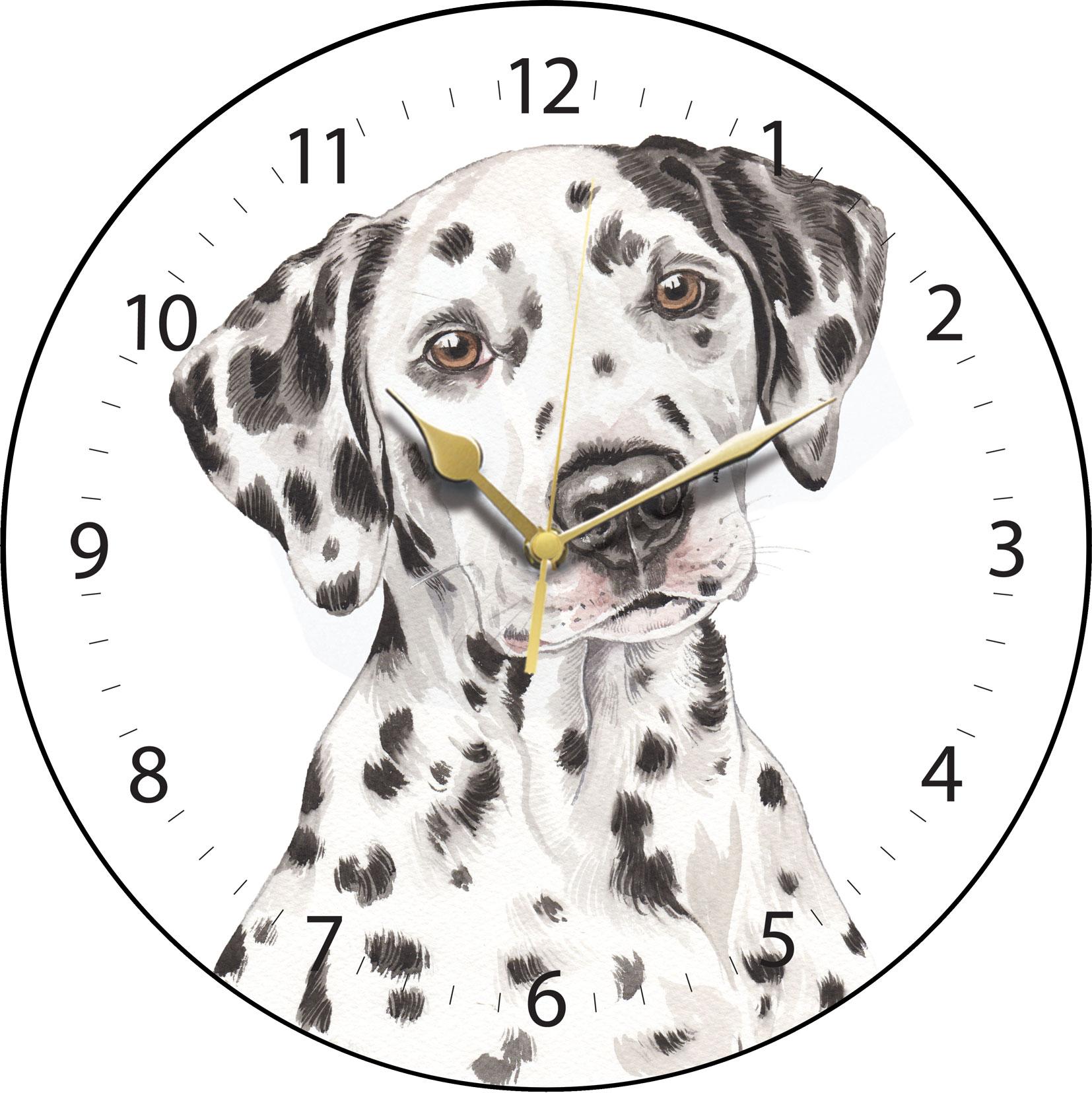 Dalmatian Clock Clk 223 Waggydogz