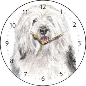 Old English Sheepdog Dog Clock