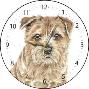 Norfolk Terrier Dog Clock