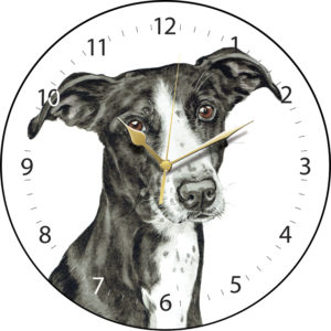Lurcher Dog Clock