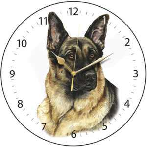 German Shepherd Dog Clock