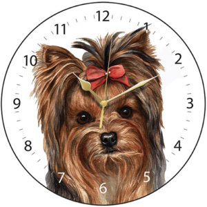 Yorkshire Terrier Dog Clock