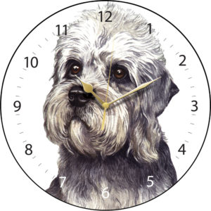 Dandie Dinmont Dog Clock
