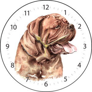 Dogue de Bordeaux Dog Clock