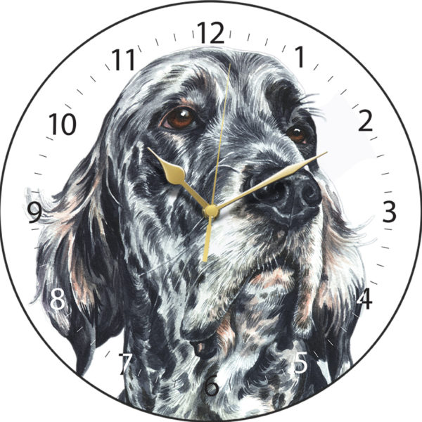 English Setter Dog Clock