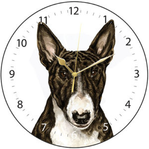 English Bull Terrier Dog Clock