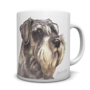 Schnauzer Ceramic Mug by Waggydogz