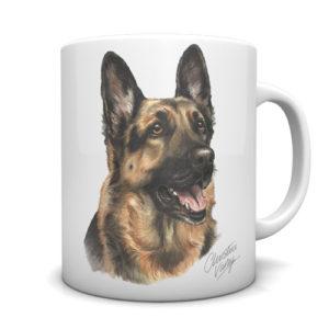 German Shepherd Ceramic Mug by Waggydogz
