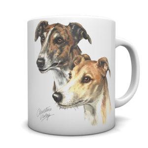 Greyhound Pair Ceramic Mug by Waggydogz