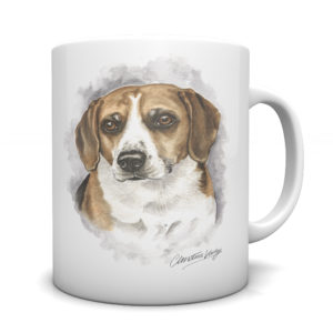 Beagle Ceramic Mug by Waggydogz