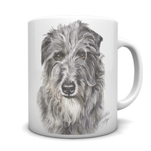 Deerhound Ceramic Mug by Waggydogz