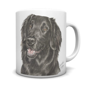 Flat-Coated Retriever Ceramic Mug by Waggydogz