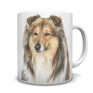 Rough Collie Ceramic Mug by Waggydogz
