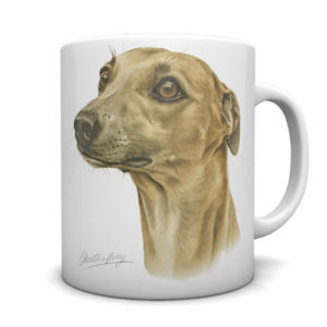 Whippet Ceramic Mug by Waggydogz