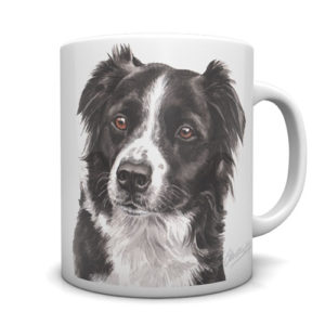 Border Collie Ceramic Mug by Waggydogz