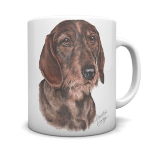 Dachshund - Wire Haired Ceramic Mug by Waggydogz