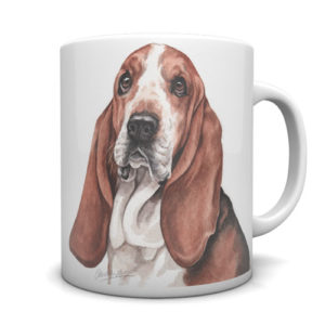 Basset Hound Ceramic Mug by Waggydogz