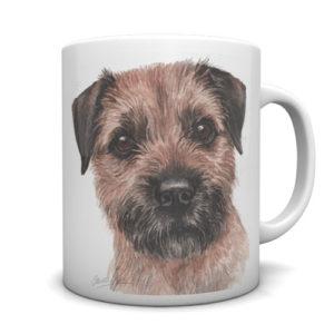 Border Terrier Ceramic Mug by Waggydogz