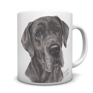 Great Dane Ceramic Mug by Waggydogz