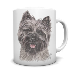 Cairn Terrier Ceramic Mug by Waggydogz