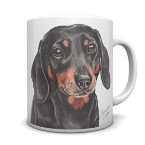 Dachshund Ceramic Mug by Waggydogz