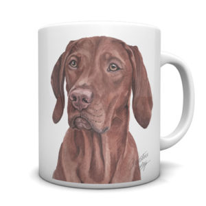Hungarian Vizsla Ceramic Mug by Waggydogz