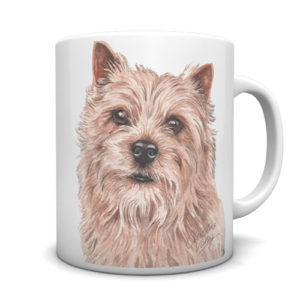 Norwich Terrier Ceramic Mug by Waggydogz
